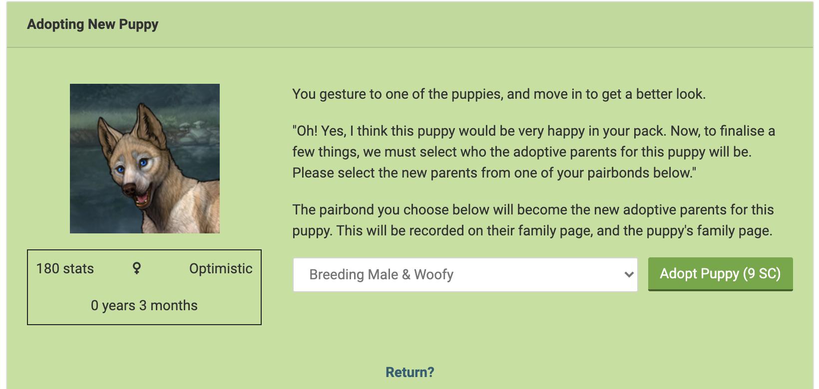 Adoption View Screenshot