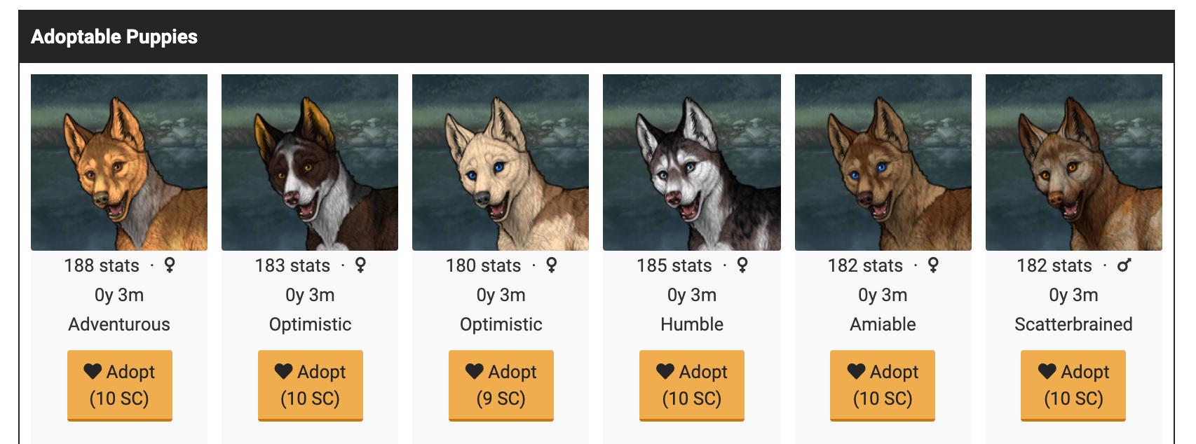Adoptable Puppies Screenshot